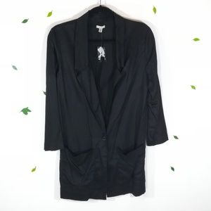 NWT Ecote Black Long Shirt One Button Jacket